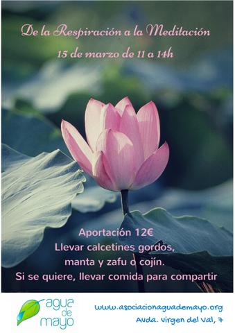 De la respiración a la meditación. 15 de marzo