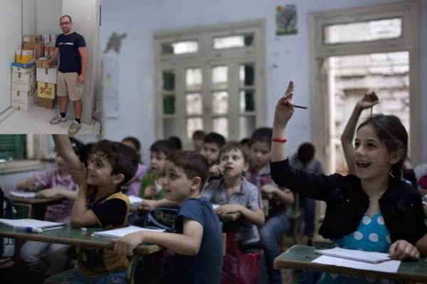 Recogidos 100 kg de material escolar para Siria