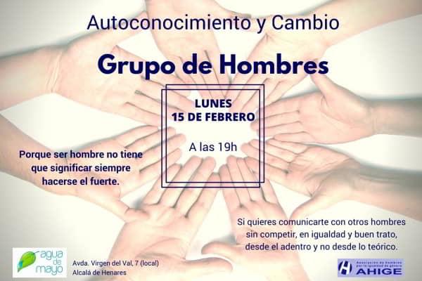 Grupo de Hombres en Autoconocimento y Cambio. Lunes 15 febrero, 19h