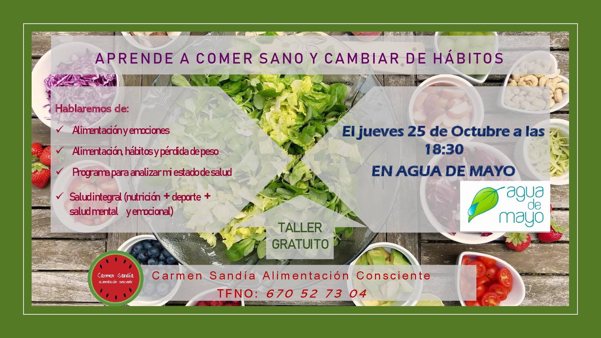 TALLER ALIMENTACIÓN CONSCIENTE AGUA MAYO