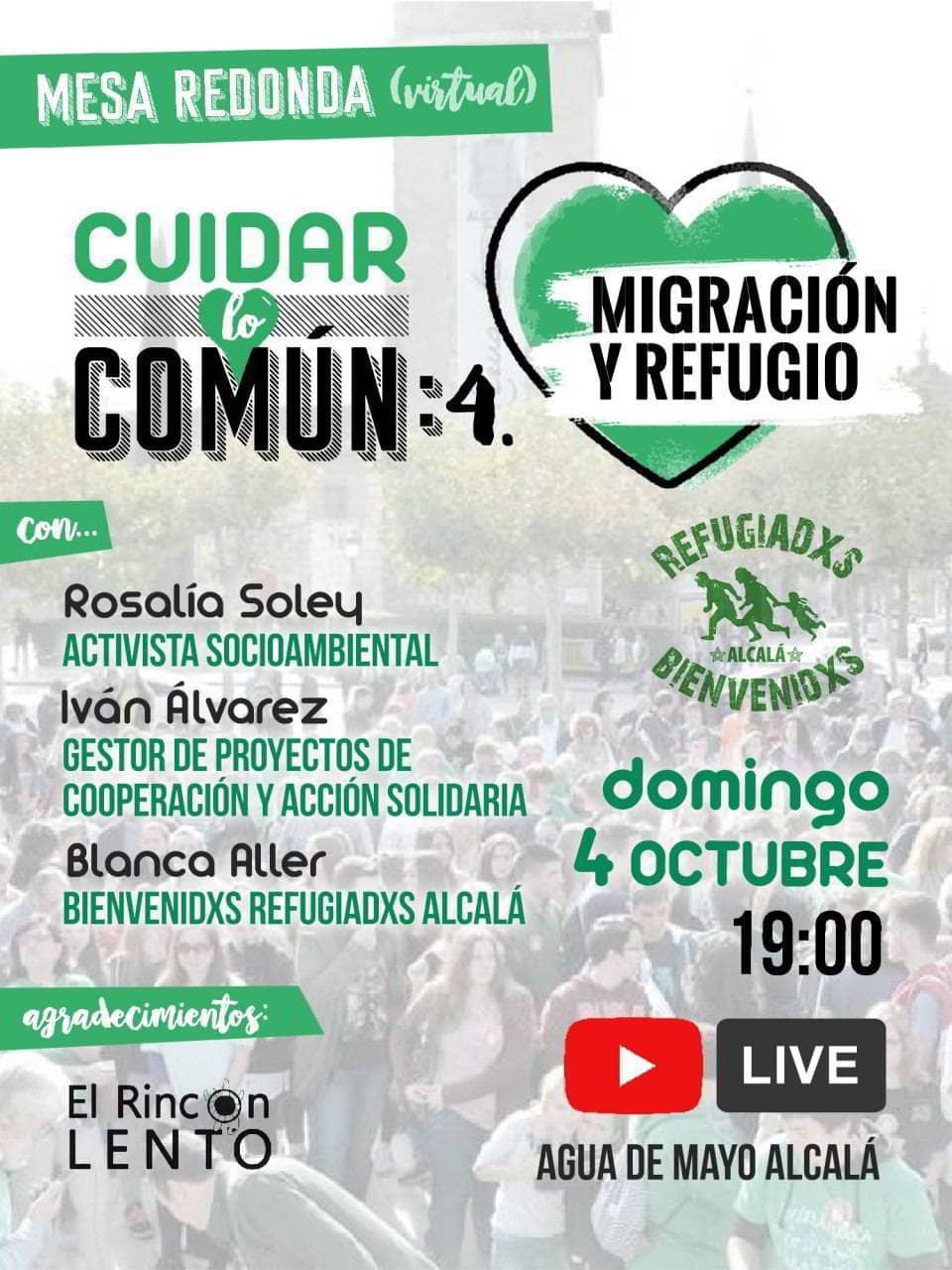 Cartel de CUIDAR LO COMÚN. Migración y refugio