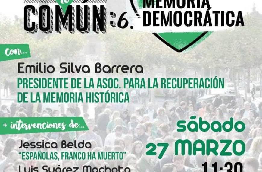 CUIDAR LO COMÚN 6. MEMORIA democrática
